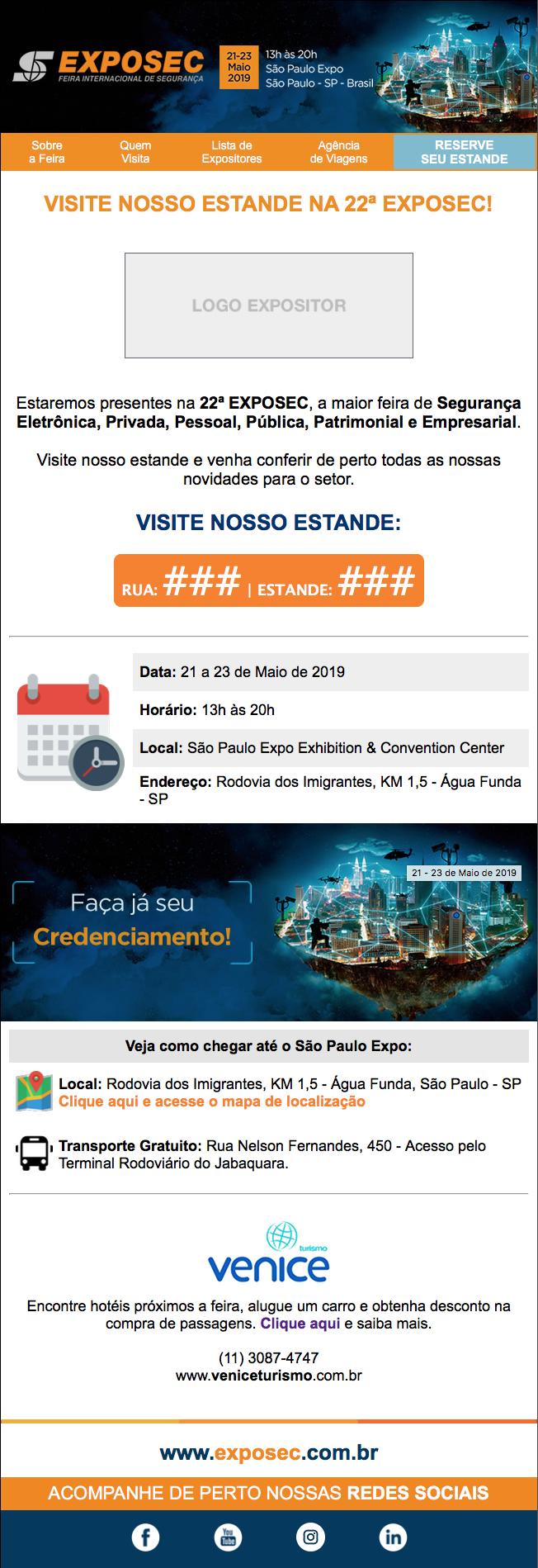 Convite Eletrônico Exposec